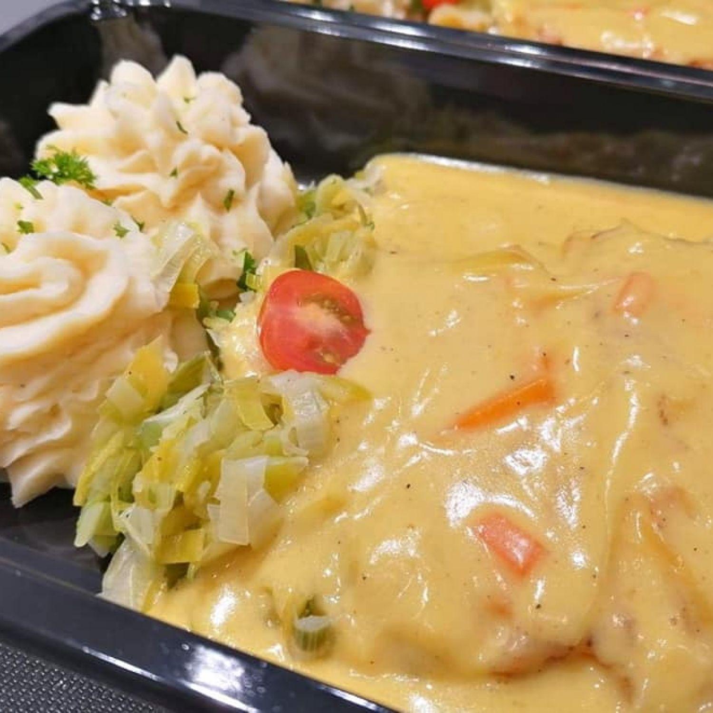 Dos de Cabillaud sauce petits légumes
